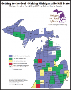 2015 MI Live Release Rate by County