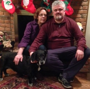 Leona on Christmas with her new parents!