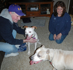 Gia with her new family