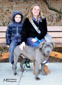 Storm with his new family.