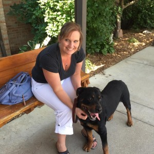 Dash with his new Mom