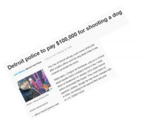 Detroit Police dog shooting fine