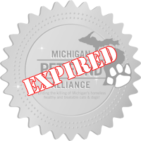 Michigan Pet Fund Alliance Certified Rescue Badge 2019-2020